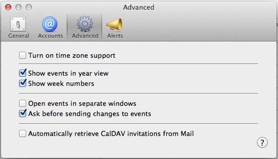 Kalenderwoche in iCal anzeigen