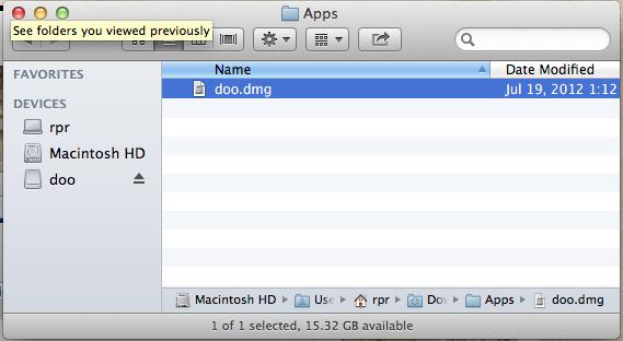 DMG-Datei im Finder